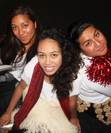CULTURAL CONCOCTION: From left: Lolo Fonua, Lavinia 'Uhila and Loma Teisi star in the play Tongan Morris Men.