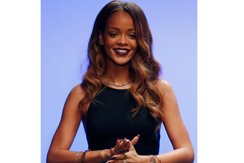 Rihanna stepped out to applause after her Nineties-inspired collection was revealed.