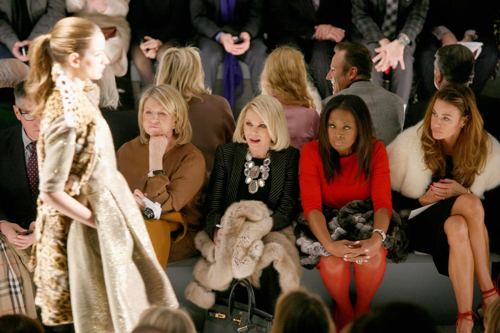 Celebs Front Row At Fashion Week