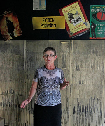 LIBRARY RUINED: Devon Intermediate head Fiona Parkinson says the fire-hit school is looking forward to making the best of a bad situation. ''It's a great opportunity for us to start over.''