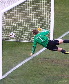 England's disallowed goal against Germany.