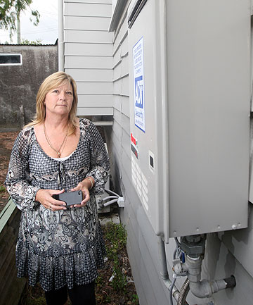 TRADESMAN GAMBIT: Nicola Tomb's continuous hot water system unit was stolen off of her house in the middle of the day, by a man who appeared to be a plumber.