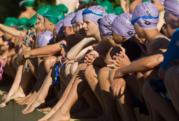 The Weet-bix Kids Tryathlon took place at Waikato University in the weekend.