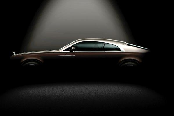 A teaser image of the new Rolls-Royce Wraith.