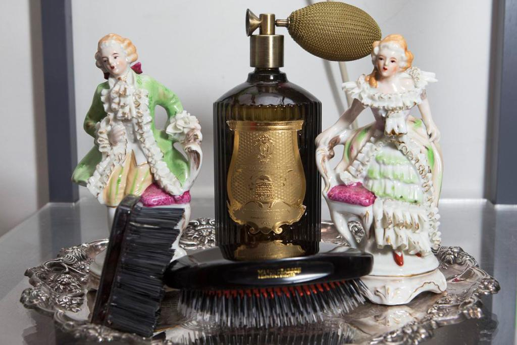 """My Cire Trudon interior perfume and Mason Pearson brush. The little one is a brush cleaner."""