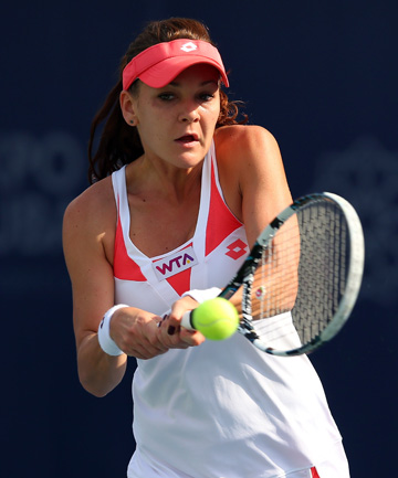 ADVANCING: Defending champ Agnieszka Radwanska is through to the quarterfinals.