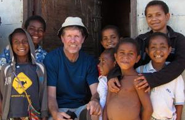 Man on a mission: Philip Gibbs has spent 40 years as a priest in Papua New Guinea.