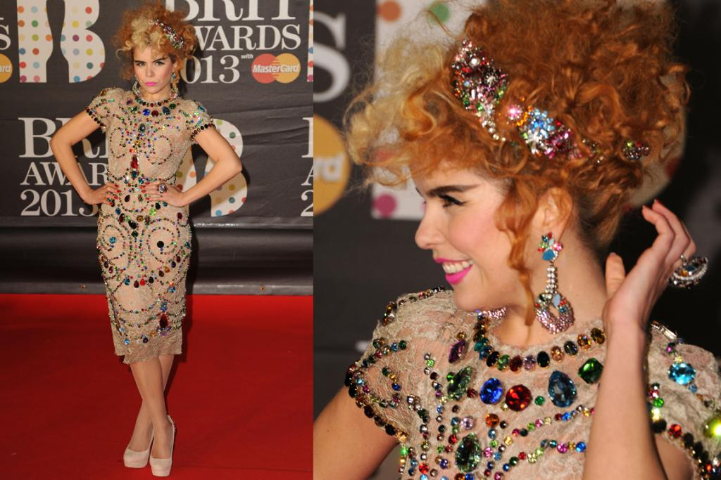 The Wild Card: Paloma Faith wore her favourite designer Dolce & Gabbana, and while, yes, she looks crazy, we kind of love this look as it doesn't pretend to be anything other than barmy.