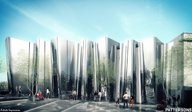 An artist impression of the proposed Len Lye Centre