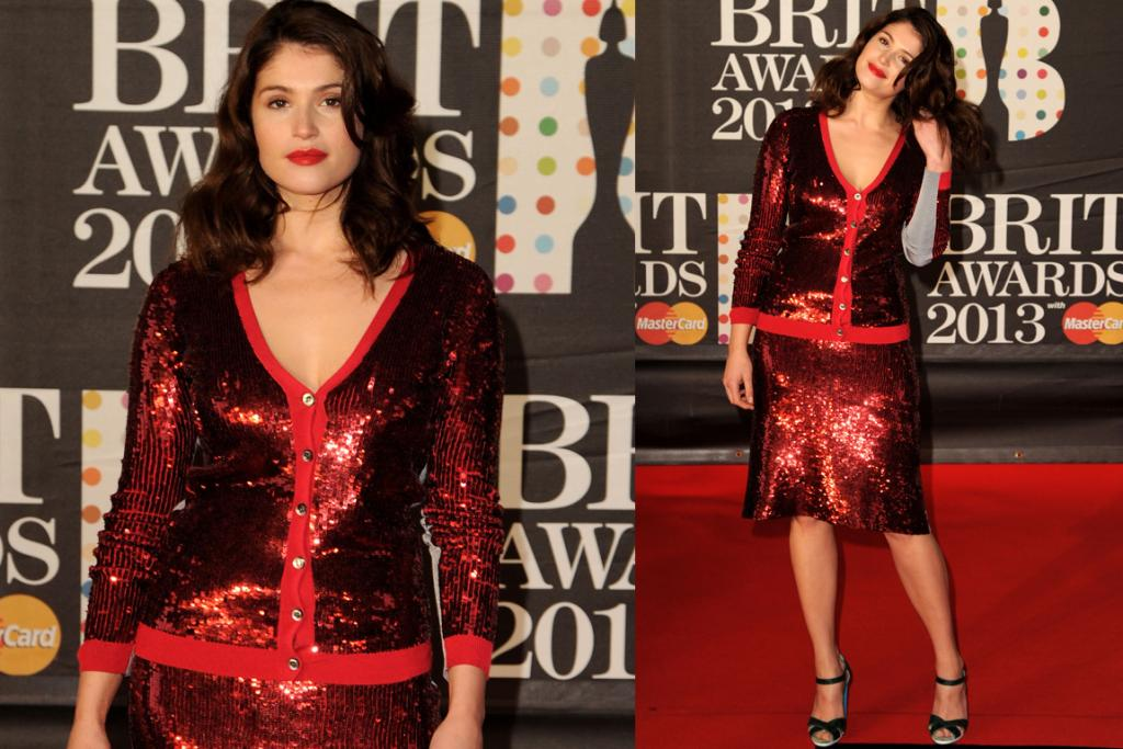 The Bad: Gemma Arterton looks like a member of a Christmas carol troupe in this Jonathan Saunders twin-set. Shall we all agree that twin-sets and red carpets should probably never meet?