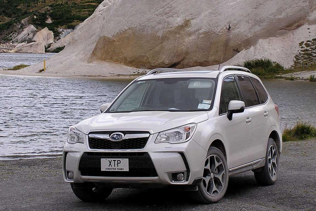 The 2013 Subaru Forester on its launch test drive in the South Island.