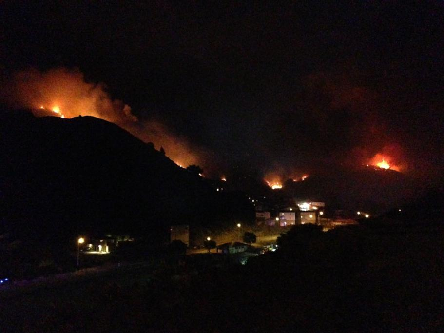 A view of the fire in the early hours of Thursday.