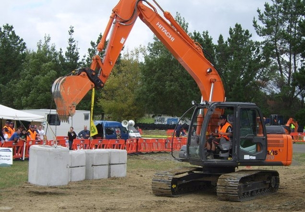 Mike Edridge Contracting excavator operator Greg Robinson, of Blenheim, at his last national Excavator Operator competition in 2011.