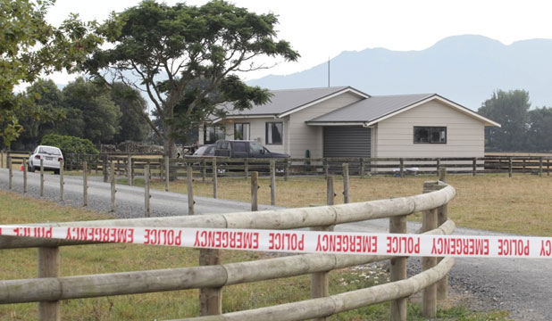 Lockdown: The house near Matamata where a man was left critically injured after being shot late Thursday night. A man's body was later found at another Matamata property.   <hr/>
