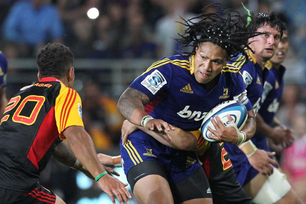 Ma'a Nonu fends off a tackle during round one of Super Rugby.