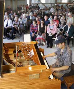 DREAM REALISED: Adrian Mann's dream has become a reality with the completion of his giant piano.