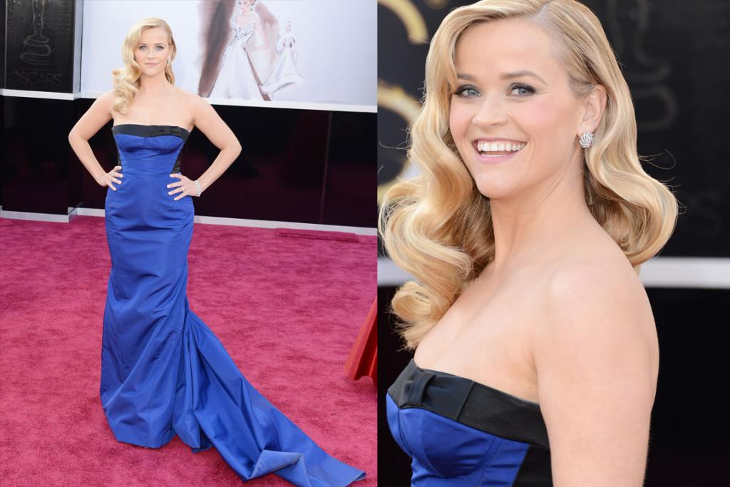 The Good - Reese Witherspoon arrives wearing a very her Louis Vuitton gown. Nice but not memorable.