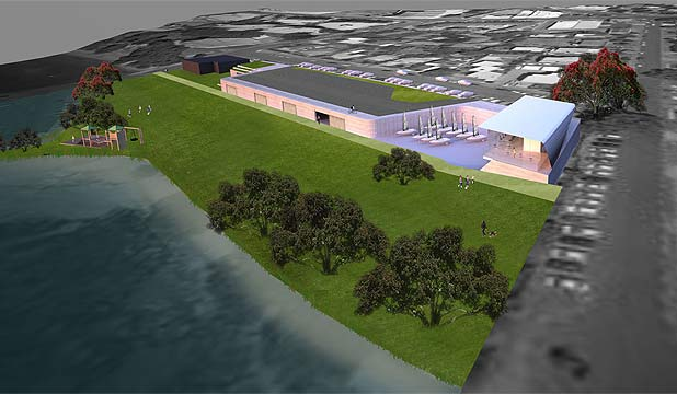 BIG PLAN: Concept drawings for the proposed National Ocean Watersports Centre on Takapuna Beach Reserve.
