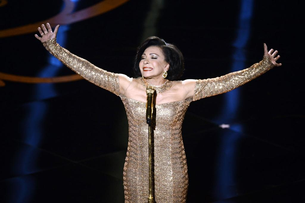 Singer Shirley Bassey performs.