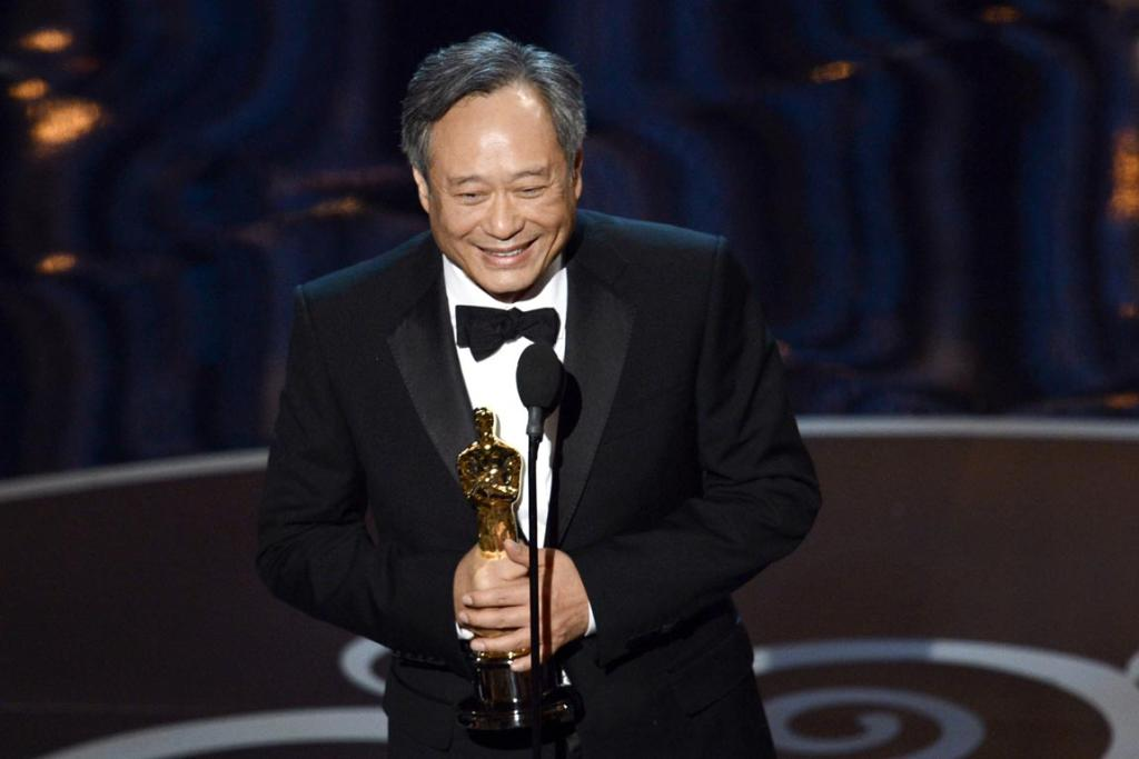 Director Ang Lee accepts the Best Director award for Life of Pi.