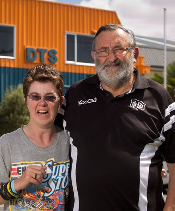LET DOWN: Chris Kitto and his daughter, Paula, at DTS in Napier