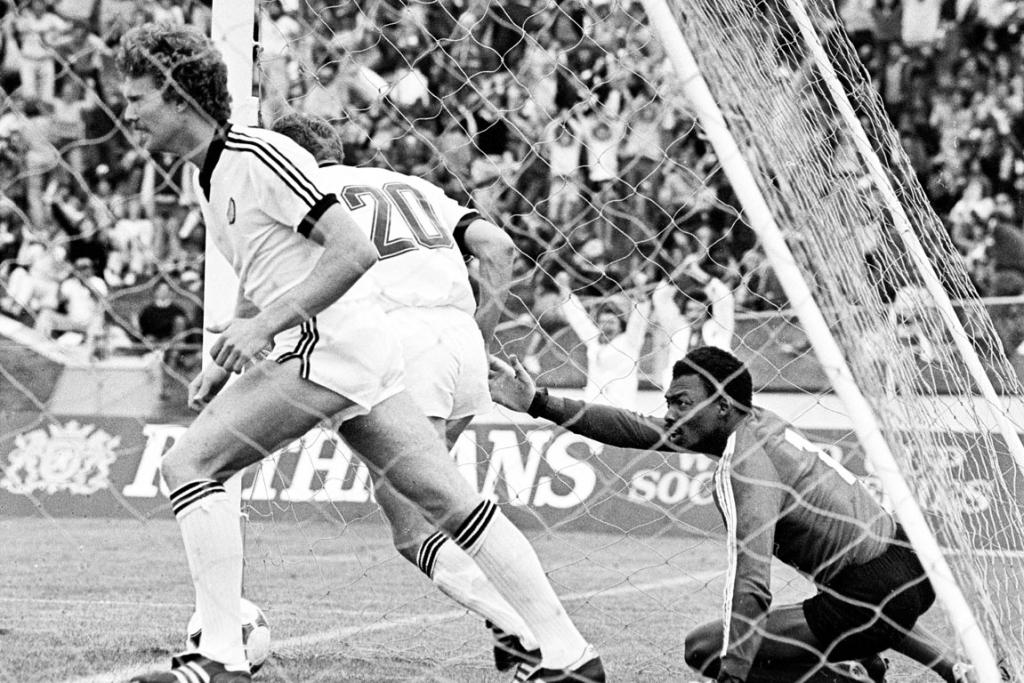 Then All White Ricki Herbert after setting up a Grant Turner goal in a World Cup qualifying match with Saudi Arabia in 1981.