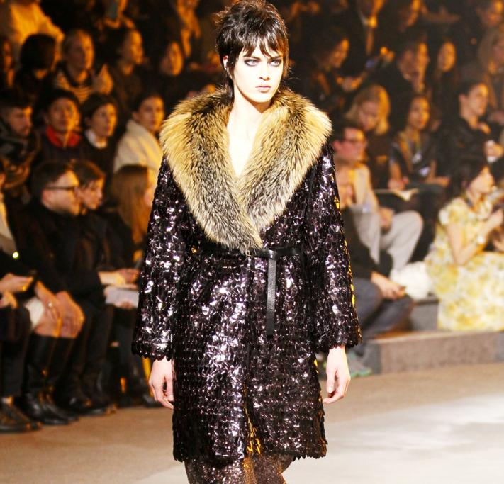 Sparkles and fur were big at Marc Jacobs' recent New York Fashion Week show.