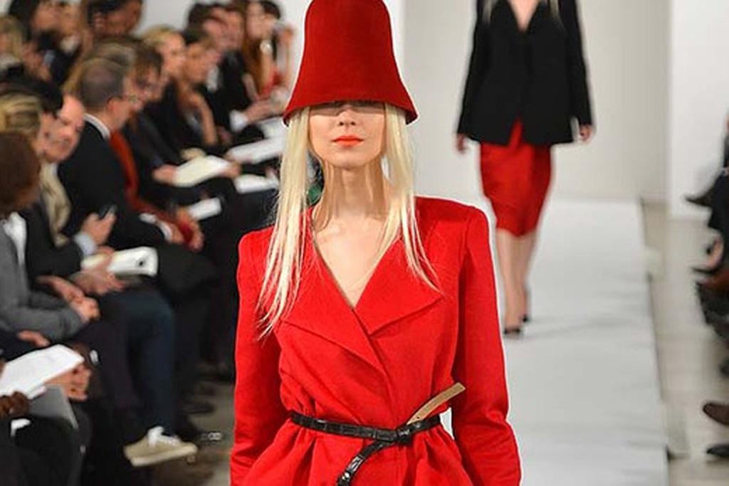 Red is going to be big - as shown at Oscar de la Renta.