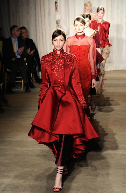 Opulence, red, embroidery - Marchesa had it all.