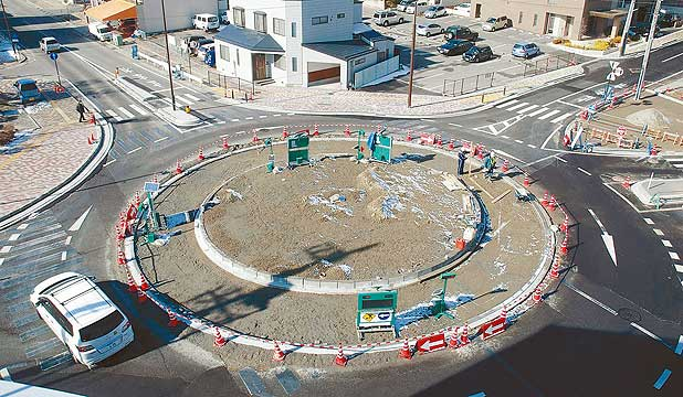 Roundabout in Japan