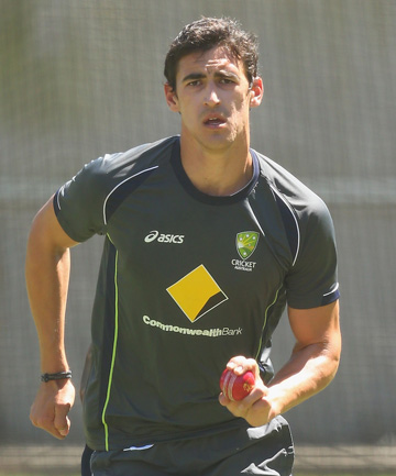 ZERO FOR: Left-arm paceman Mitchell Starc went wicket-less in the first test for the first time in his eight-test career.