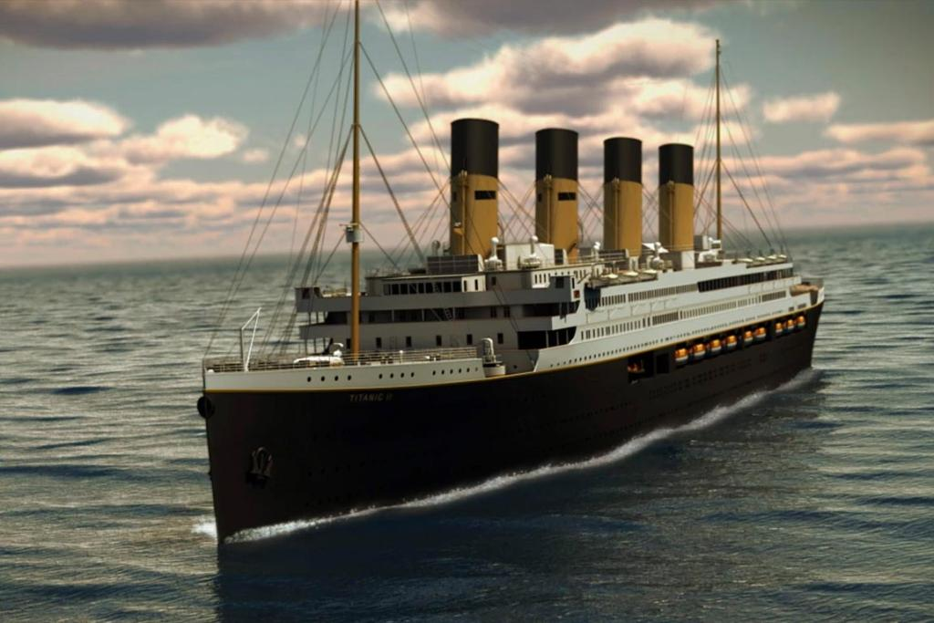 An undated artist's rendering of the proposed cruise ship Titanic II, provided by the Blue Star Line.