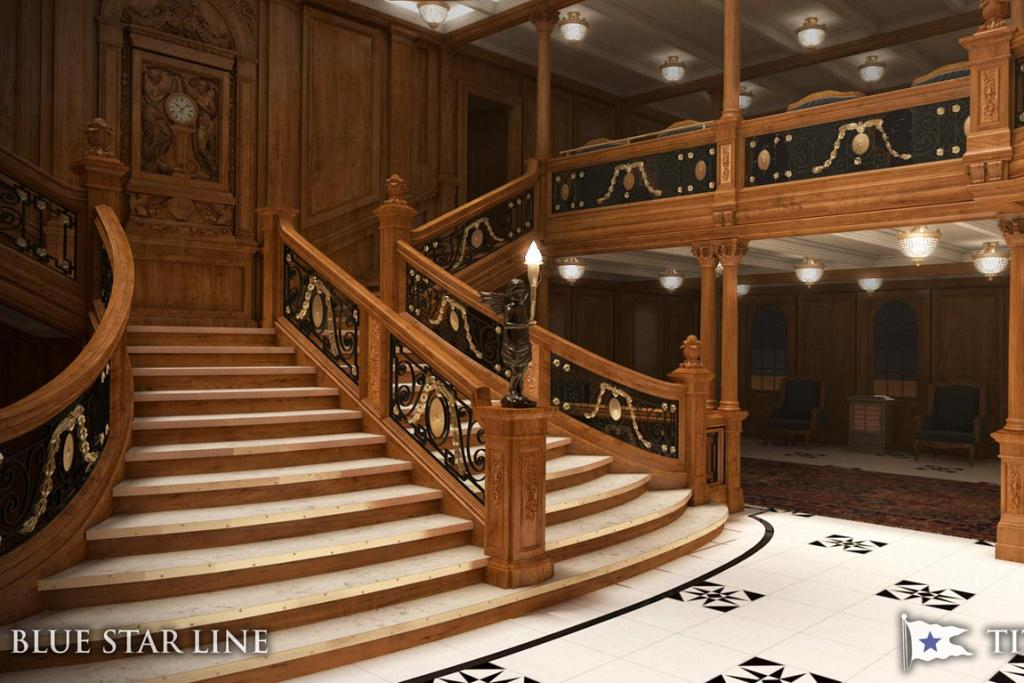 An artist's rendering of the interior of the proposed cruise ship Titanic II. Australian billionaire Clive Palmer unveiled plans for his dream ship during a news conference in New York.