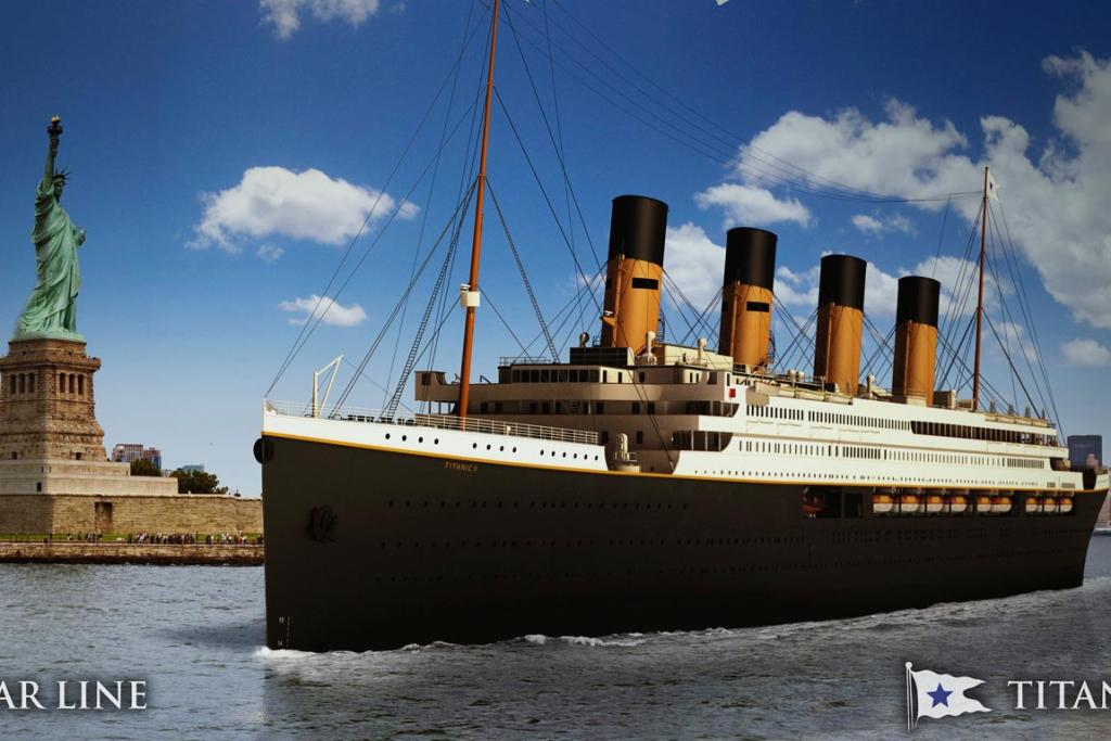 An undated artist's rendering of the proposed cruise ship Titanic II.
