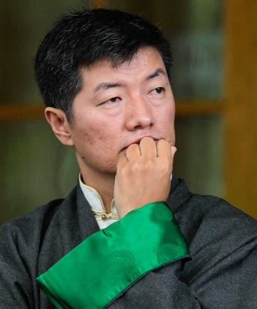 IN EXILE: Tibetan prime minister Lobsang Sangay.