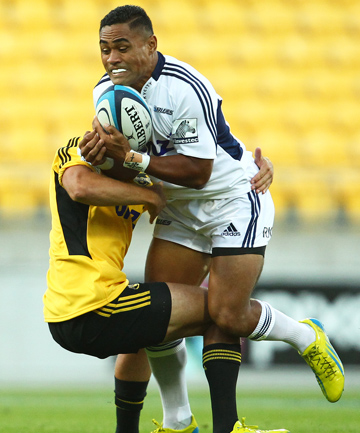 PERSONAL TRIUMPH: Francis Saili playing against the Hurricanes.