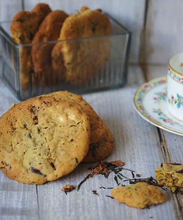 PICK-ME-UP: Lady Grey and chocolate chip biscuits.