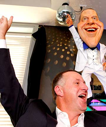 John Key and his Backbencher caricature