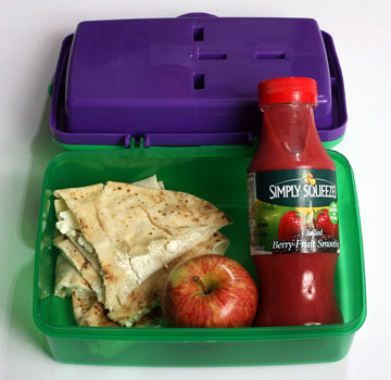 The contents of this lunchbox cost $3.35, or $16.75 for the school week.
