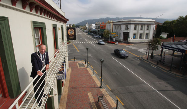 HERITAGE AT RISK: ''This is something that could see Waimate's main street flattened,'' says Waimate Mayor John Coles of the Government's proposed earthquake-prone buildings policy.
