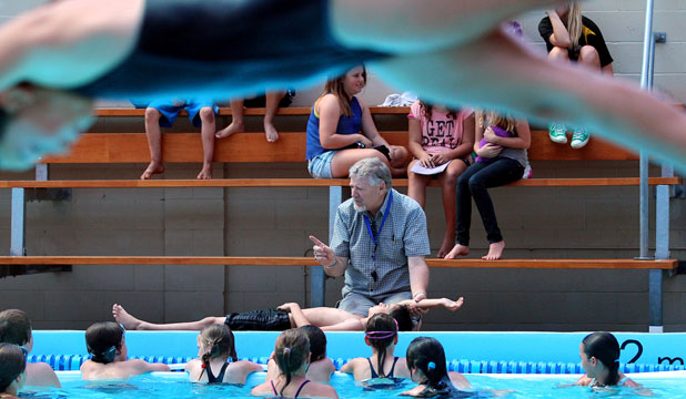 Swimming teaching, coaching