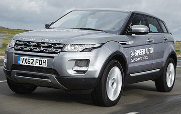 The Land Rover Evoque fitted with the world's first nine-speed automatic transmission.