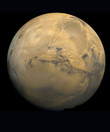RED PLANET: Water may have once flowed on Mars.