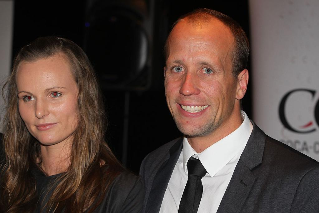 Young New Zealander of the Year Sam Judd and his wife Emma.