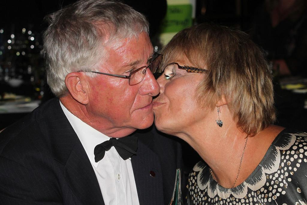 Senior New Zealander of the Year Ian Grant with his wife, Mary.