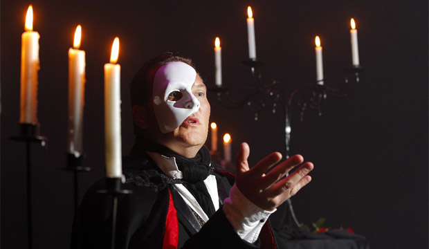 TORTURED SOUL: Chris Crowe plays the lead role in the Wellington Musical Theatre's production of The Phantom of the Opera which opens on June 13 at St James Theatre, Wellington.