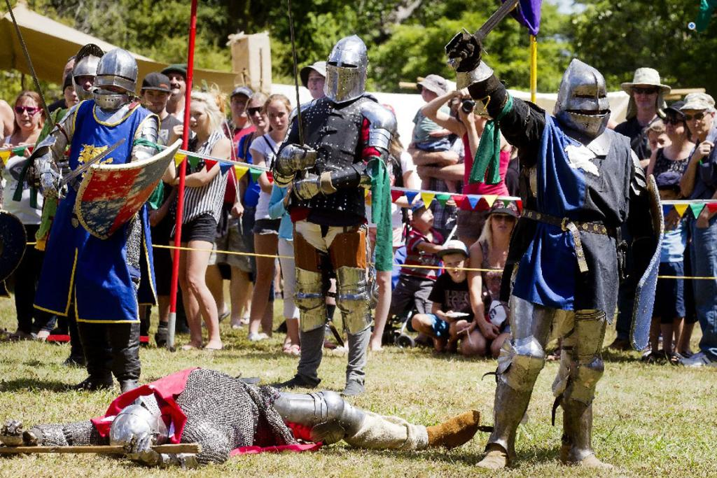 And a bit of jousting at Upper Hutt's medieval tournament.