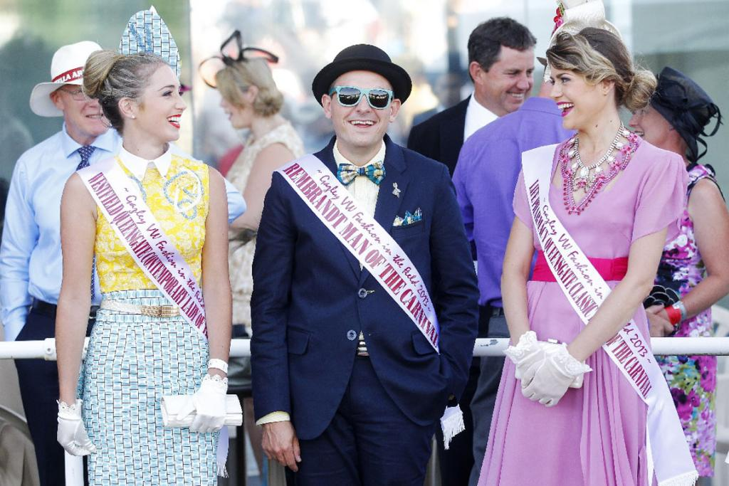 There were plenty of reasons to dress up, including the Wellington Cup Carnival, Stephanie Noble, Andrew Bowater, and Olivia Moor showing us how it's done.