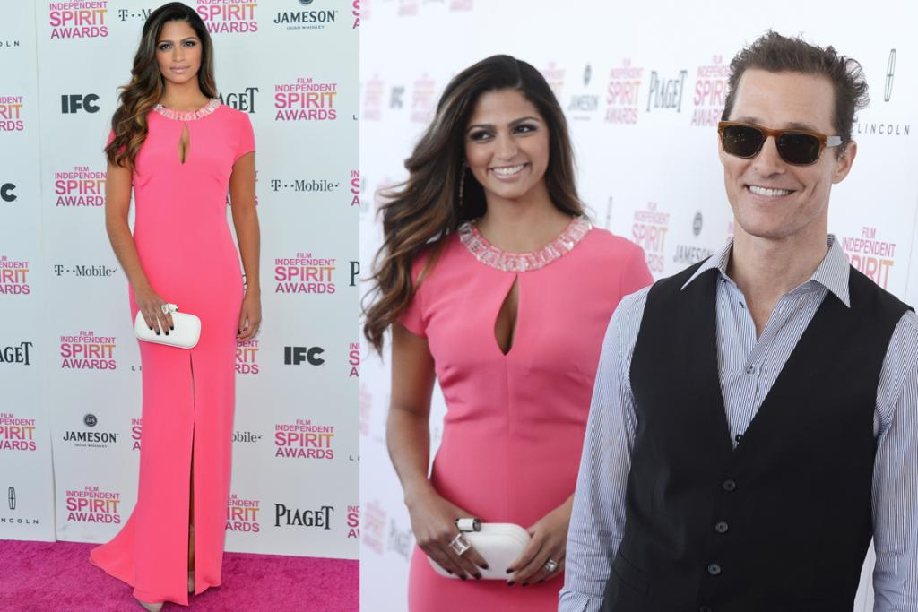 The Good - Cap sleeves are almost impossible to pull off with long gowns, but Mrs. Matthew McConaughey, Camila Alves, is rocking this hot pink Escada number. Oh, and mamacita gave birth only two months ago: we give up.