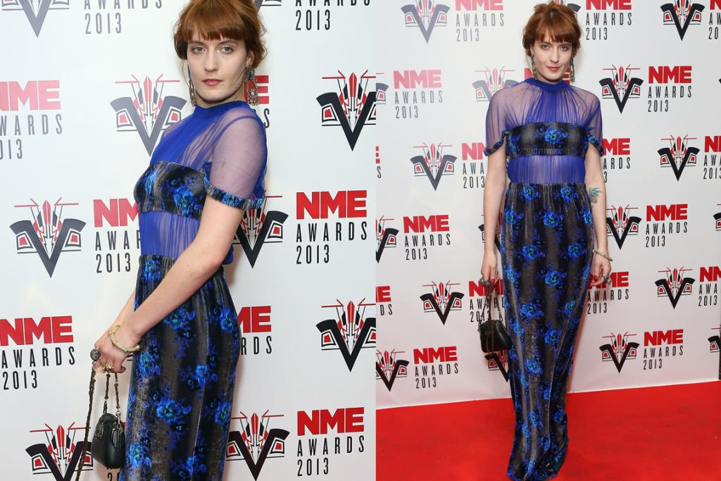 The Bad - Florence Welch can normally work daring designs, but the bandeau shape of the top half of this Christopher Kane dress reminds us of an unflattering bikini we wore in the early Noughties, and crushed velvet and mesh are an unsettling texture combination.